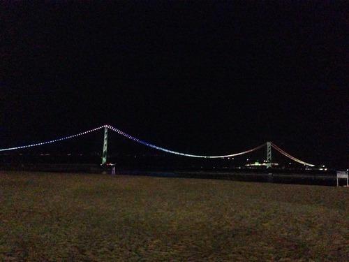 明石大橋夜